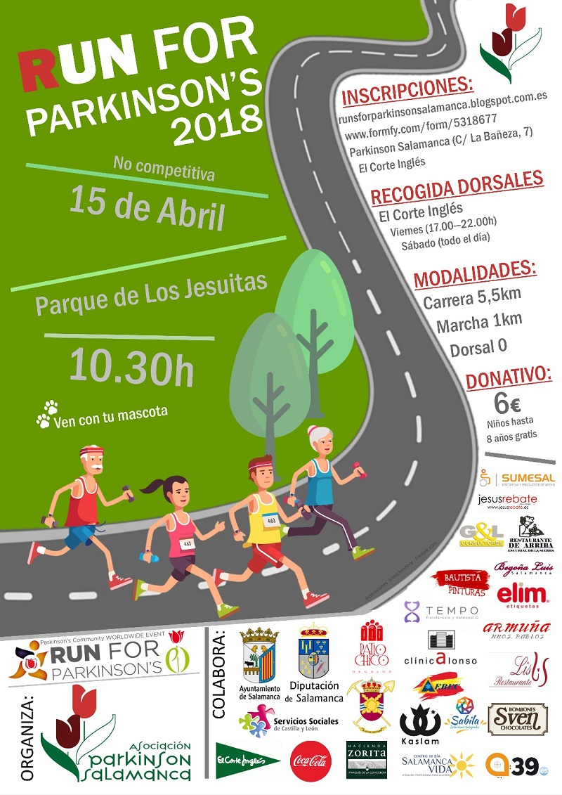 Imagen del cartel anunciador de la carrera popular y solidaria 'Run for Parkinson'